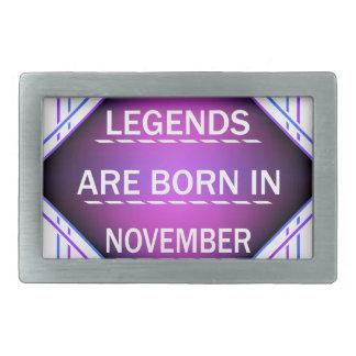 De legenden zijn geboren in November Gespen
