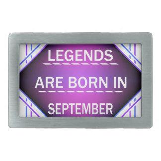 De legenden zijn geboren in September Gespen