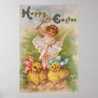 De Leiband van het Kuiken van Pasen van het meisje