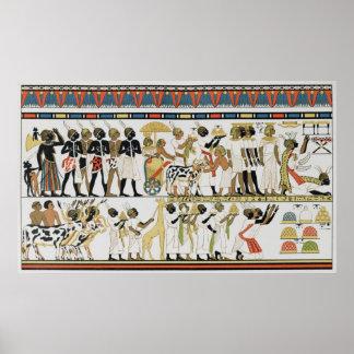 De leiders die van Nubian cadeaus brengen Poster