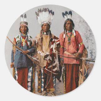 De Leiders Garfield Ouche Te Foya 1899 van Apache Ronde Sticker