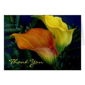 De lelies danken u Wenskaart