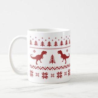 De lelijke Sweater van Kerstmis van de Dinosaurus Koffiemok