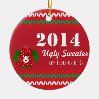 De lelijke Winnaar van de Sweater Rond Keramisch Ornament
