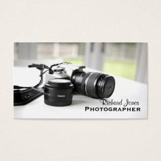 De Lens van de Camera van de Fotograaf van Visitekaartjes