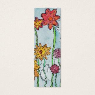 De lente bloeit Bladwijzer Mini Visitekaartjes