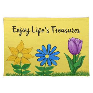 De lente bloeit Gele Placemat
