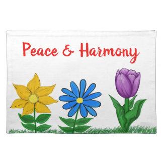 De lente bloeit Witte Vrede Placemats