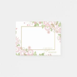 De lente Bloemen op Witte ID190 Post-it® Notes