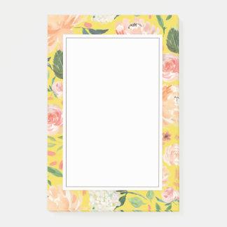 De lente blozen en Bloemen Geel van de Waterverf Post-it® Notes