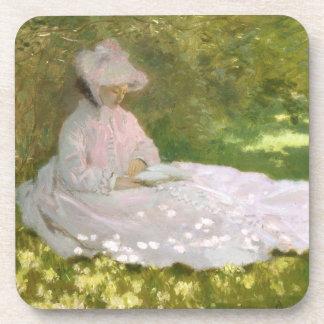De lente door Claude Monet Bier Onderzetter