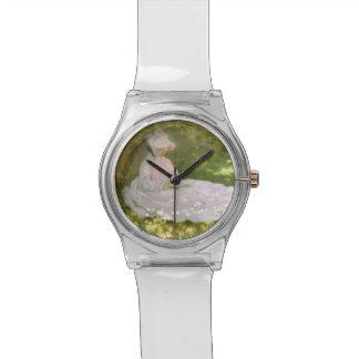 De lente door Claude Monet Horloge