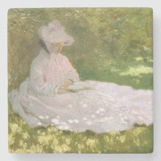 De lente door Claude Monet Stenen Onderzetter