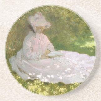 De lente door Claude Monet Zandsteen Onderzetter