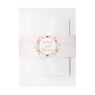 De lente doorboort Collectie van het Huwelijk van Uitnodigingen Wikkel