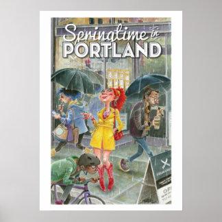 De lente in Portland -Portland-lrg Poster