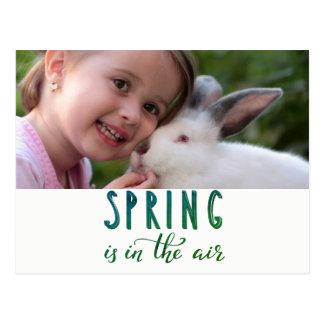 De lente is in de lucht - voeg foto toe briefkaart
