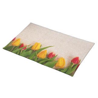 De Lente van de Bloesems van tulpen personaliseert Placemat