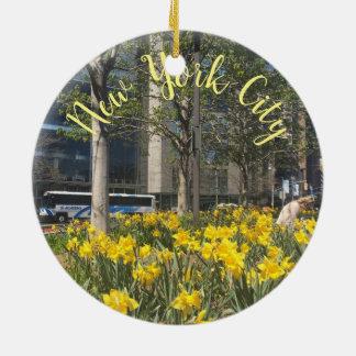 De Lente van de Cirkel NYC van Columbus van de Rond Keramisch Ornament