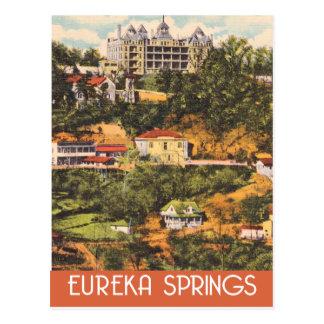 De Lentes van eureka, Arkansas, vintage reisstijl Briefkaart