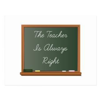 De leraar is Juist Briefkaart