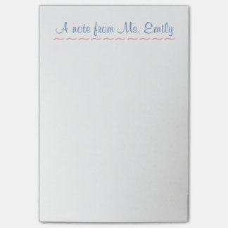 De leraar post-It® neemt nota van 4 x 6 Post-it® Notes