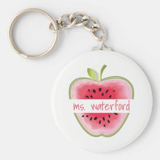 De Leraar van Apple van de watermeloen Sleutelhanger