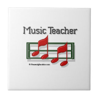 De Leraar van de Muziek van nota's Keramisch Tegeltje