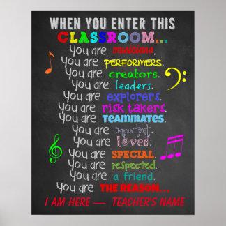 De Leraar van de muziek - wanneer u Dit Klaslokaal Poster