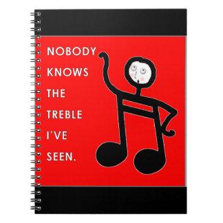 De Leraar van de piano Ringband Notitie Boek