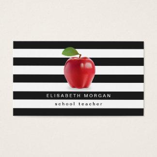 De Leraar van de School van Apple - Klassieke Visitekaartjes