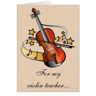 De Leraar van de viool dankt u Briefkaarten 0