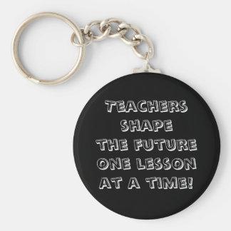 De leraren geven tegelijkertijd toekomstige gestal sleutelhanger