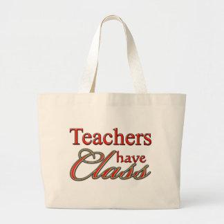 De leraren hebben klasse-Sinaasappel Jumbo Draagtas