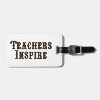 De leraren inspireren kofferlabel