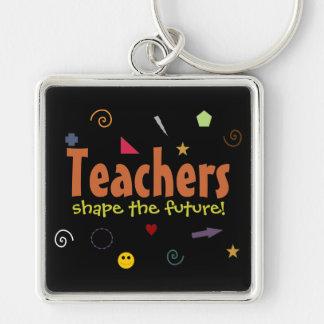 De leraren vormen toekomstig keychain sleutelhanger