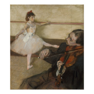 De les van de Dans door Edgar Degas Poster