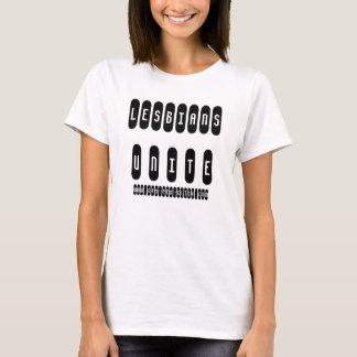 """De """"lesbiennes verenigen"""" het Baby van Dames - pop T Shirt"""