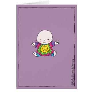De leuk Hippie van het Baby van de Vrede/Baby Kaart