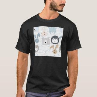 De leuk peuter van de cartoonteddybeer en t shirt