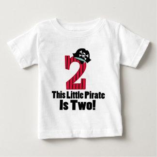 De leuke 2de Piraat van de Verjaardag Baby T Shirts