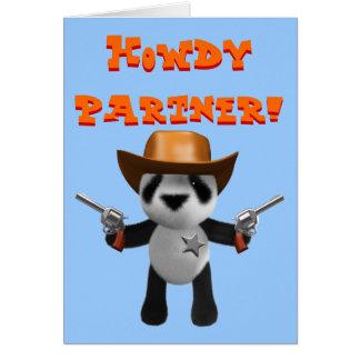 De leuke 3d Sheriff van de Panda van het Baby Kaart