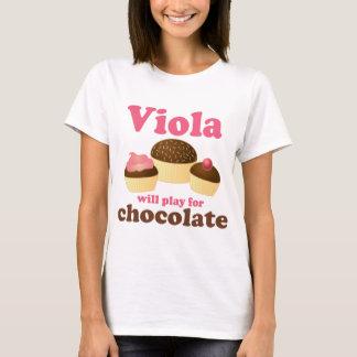 De leuke Altviool zal voor Chocolade spelen T Shirt