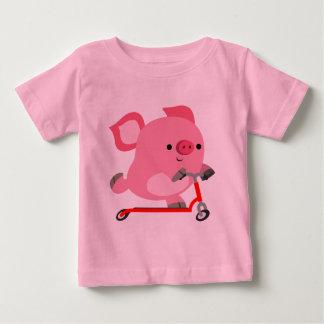 De leuke autoped-Berijdende T-shirt van het Baby