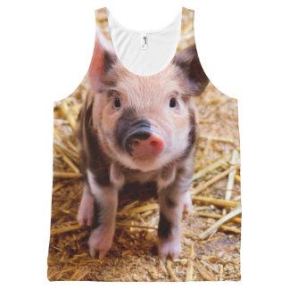 De leuke Babys van de Dieren van het Boerderij van All-Over-Print Tank Top