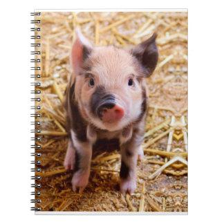 De leuke Babys van de Dieren van het Boerderij van Ringband Notitieboeken