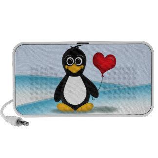 De leuke Ballon van het Hart van de Pinguïn - de S Laptop Speakers