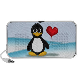 De leuke Ballon van het Hart van de Pinguïn - de S Speakers