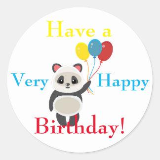 De leuke Ballons van de Verjaardag van de Holding Ronde Sticker