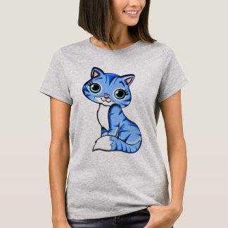 De leuke Blauwe Kat van het Kat T Shirt